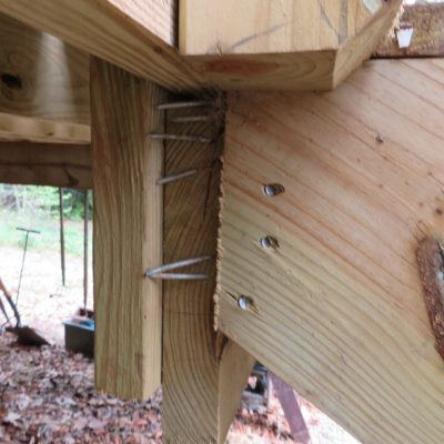 Almost, but no cigar for this deck stairs nailing job
