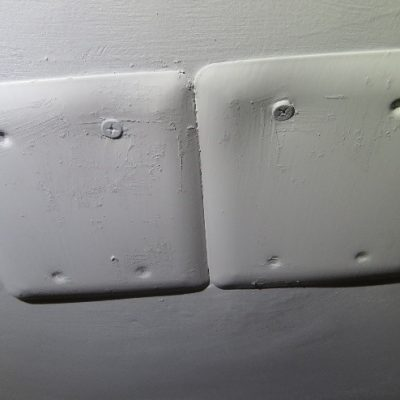 If you run out of screws, just use caulking instead