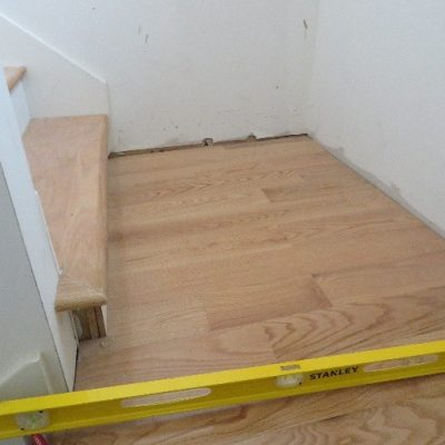 New Construction stairs landing. Out of LEVEL over an inch on less than 4'